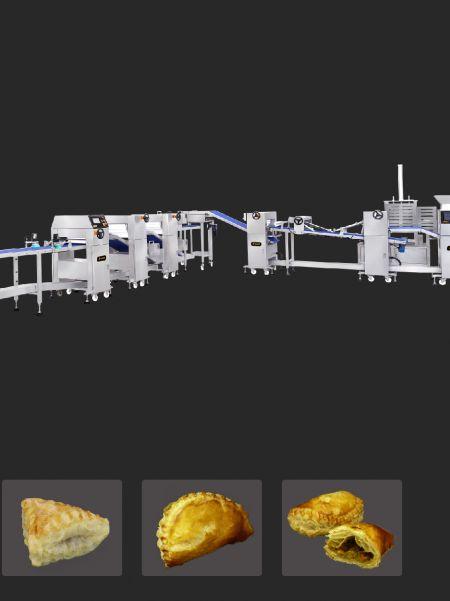Dostosowana linia do produkcji ciasta francuskiego - maszyna do ciasta francuskiego