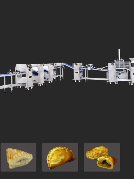 Customized Puff Pastry Production Line - puff pastry machine