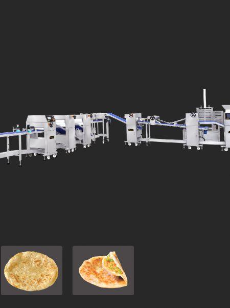 全自動多層蔥油餅與印度餅生產線
