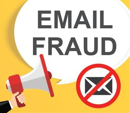 धोखाधड़ी ईमेल और इंटरनेट घोटाले के बारे में घोषणा
