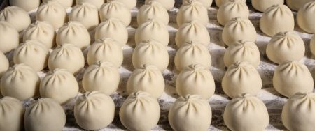Baozi, a great traditional dish of Chinese cuisine.