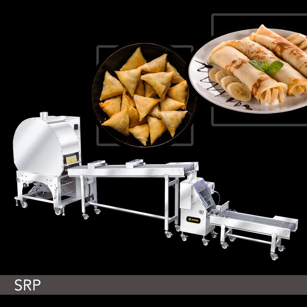 Automatic Spring Roll And Samosa Pastry Sheet Machine - SRP Series. ANKO Automatic Spring Roll And Samosa Pastry Sheet Machine