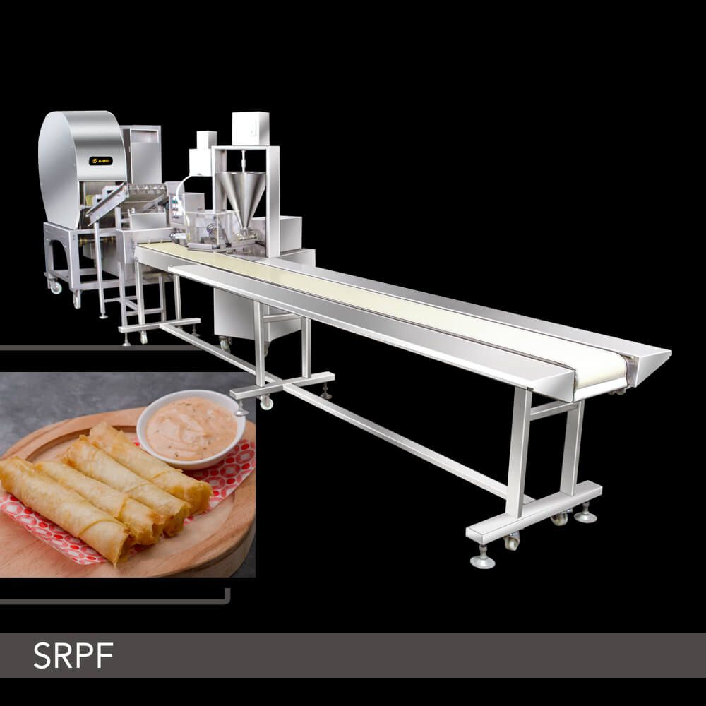Semi-Automatic Spring Roll and Samosa Production Line - SRPF Series. ANKO Semi-Automatic Spring Roll and Samosa Production Line