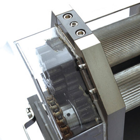 Transparent cover for transmissions parts. Environmental and hygienic.