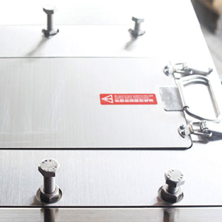 Stainless steel cover. Environmental and hygienic.