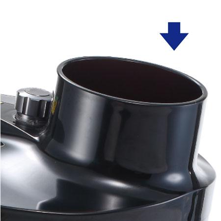 操作が簡単、直徑10cmの入口、果物を入れやすい、ジュースが少ないきちんとしたスライス。