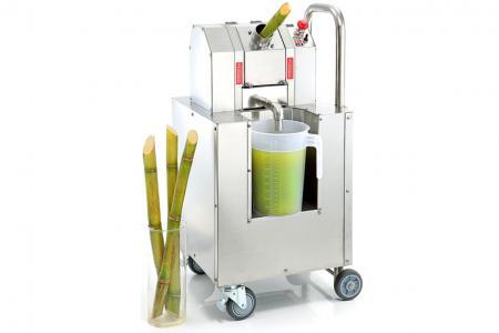 Extracteur de jus de canne à sucre sur chariot
