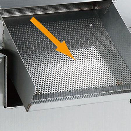 Quadro interno em liga de alumínio. Rolo de a?o inoxidável. Fácil de limpar.