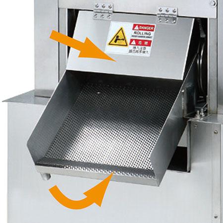 Couvercle en acier inoxydable. Tamis filtrant en acier inoxydable. Pas de gaspillage de jus.