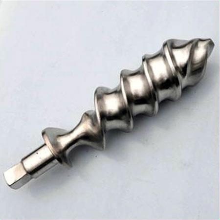 Grinding screw, Stainless steel axle.
