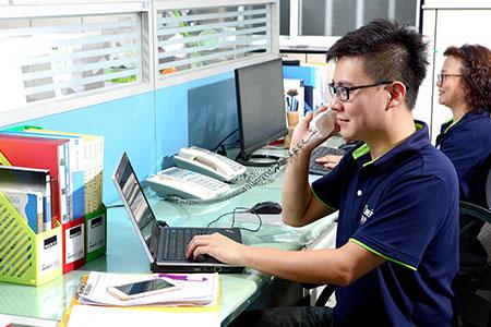 Phòng kinh doanh chuyên nghiệp của DASIN.