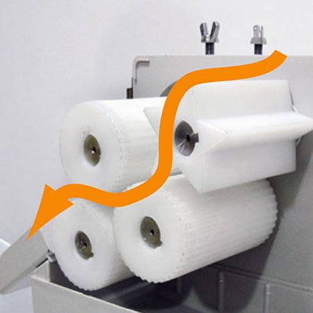 Mais recente projeto de 4 rolos com alta eficiência e velocidade, 35 meias laranjas / min. Os espa?os entre os rolos podem ser ajustados com base em diferentes requisitos.