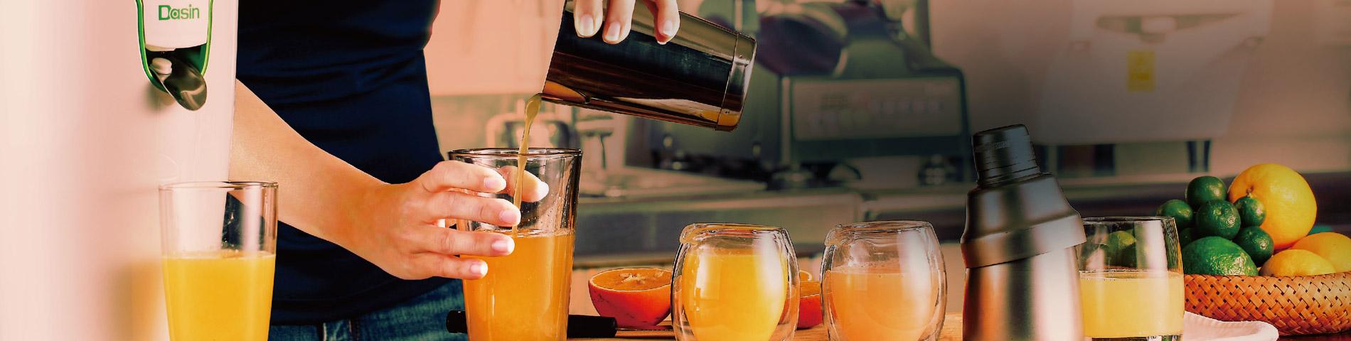 Suco com Extraordinário Cheirar e saborear
