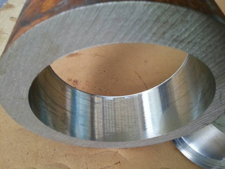 The finished steel product after trepanning drilling in Ju Feng's drilling workshop