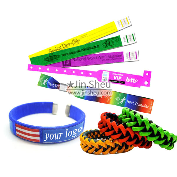 Custom made all kinds of promotional wristbands