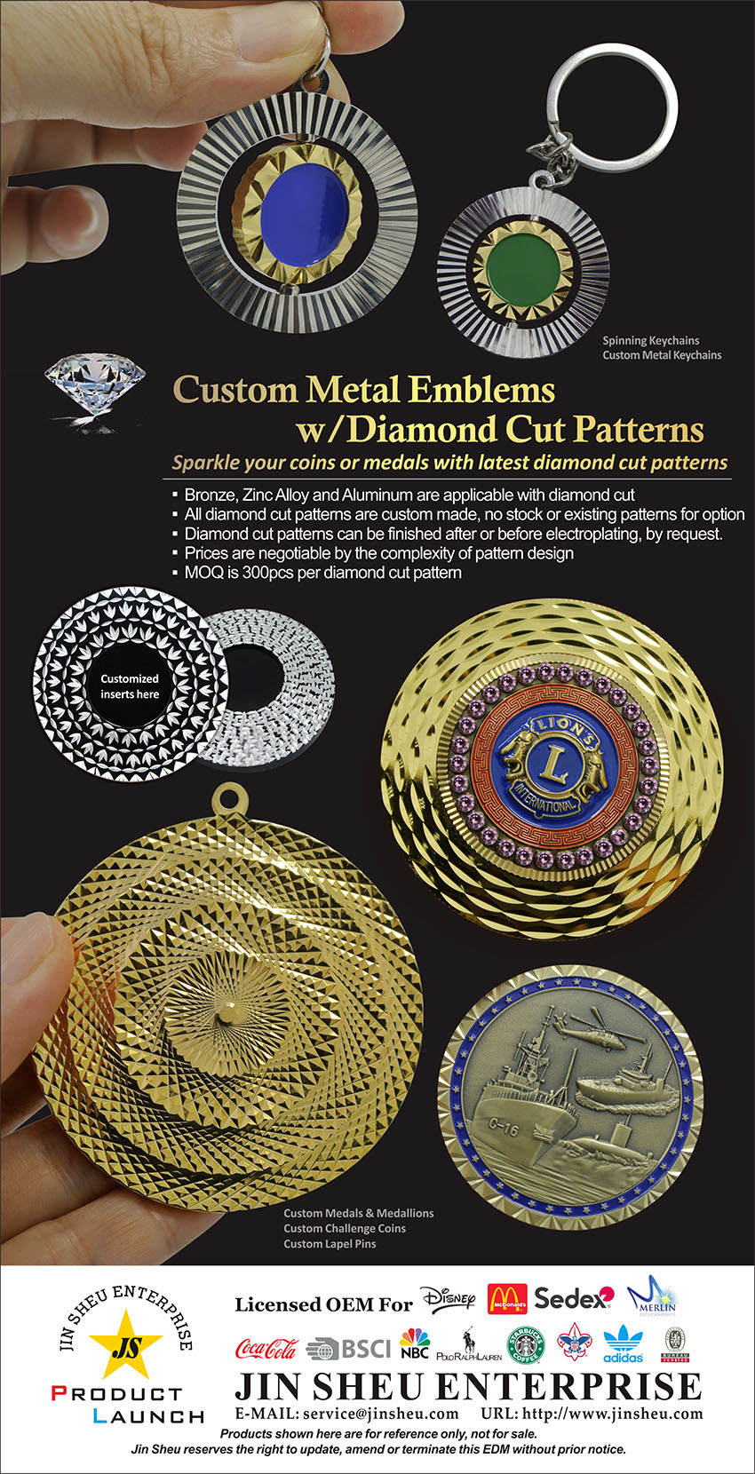 custom metal emblems