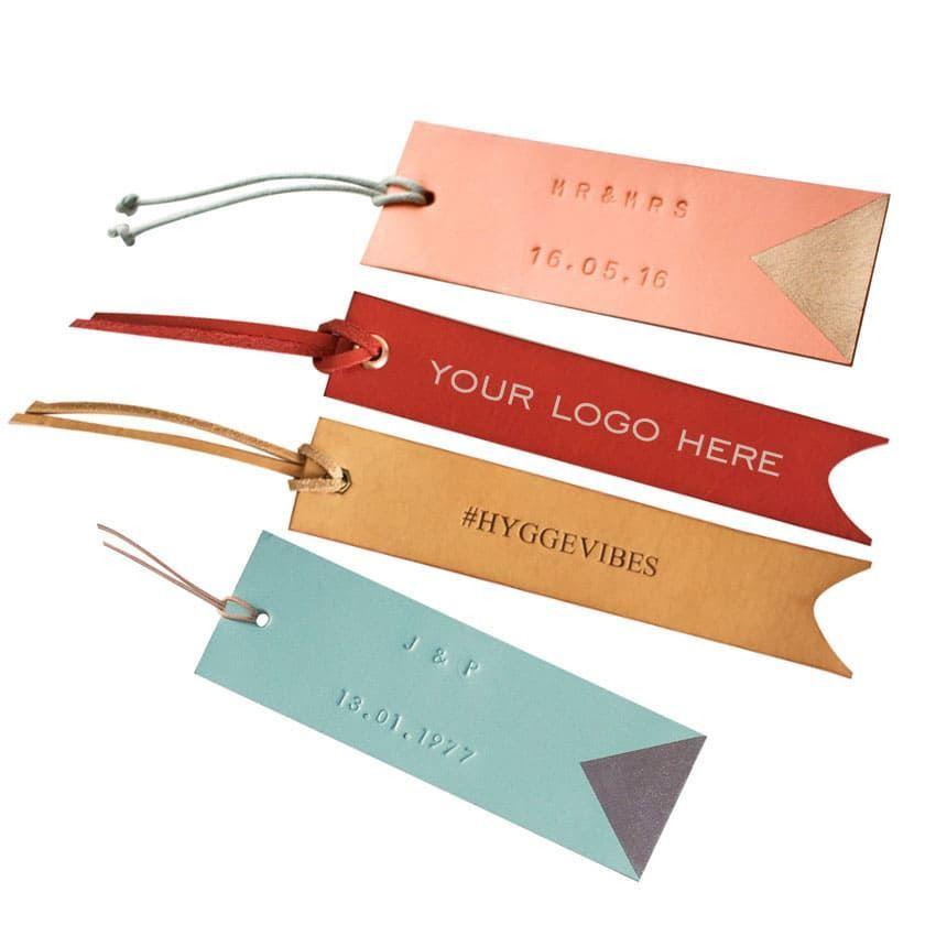 Personalised Leather Bookmark