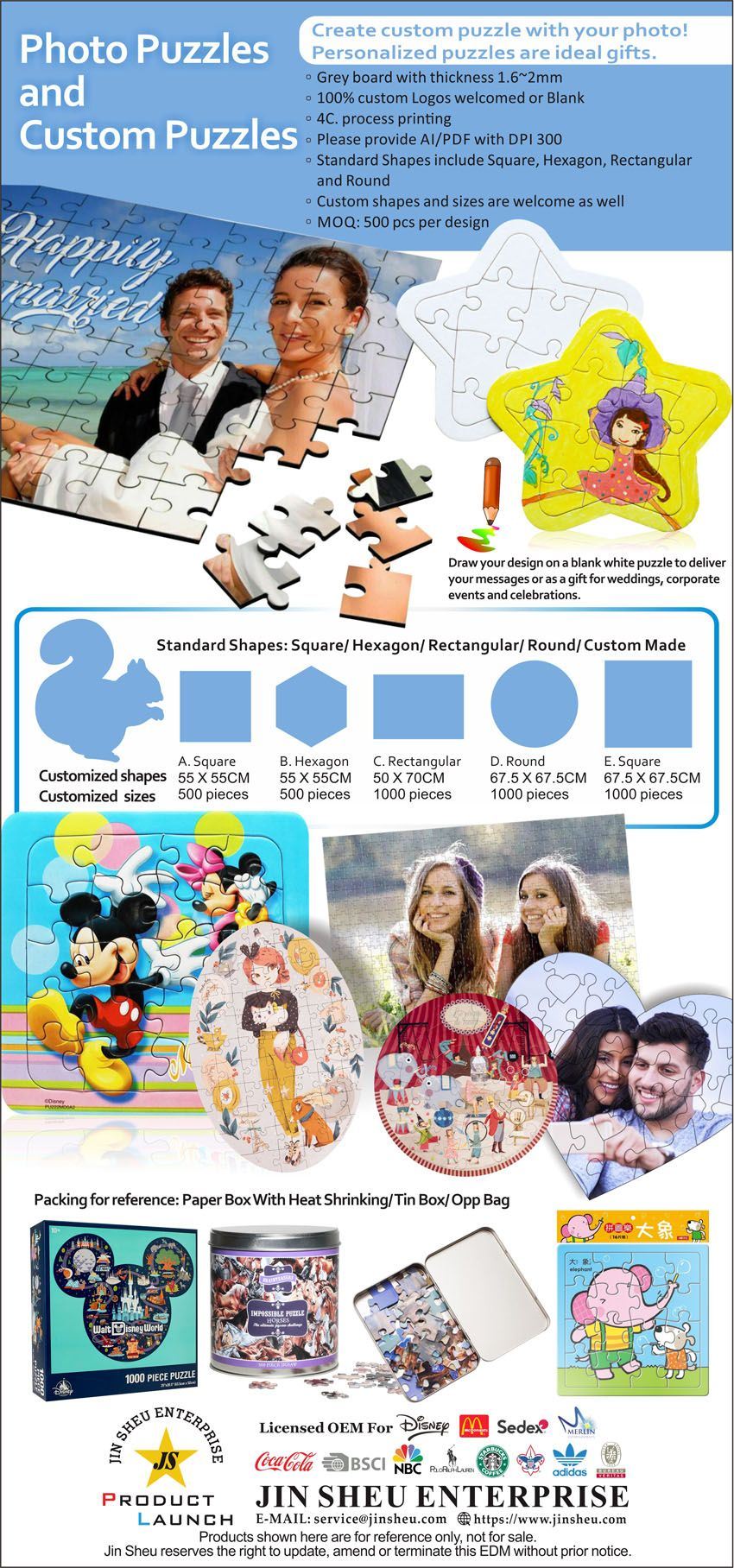 Custom Photo Puzzles at factory direct price