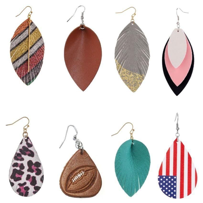Leather Earrings Wholesale