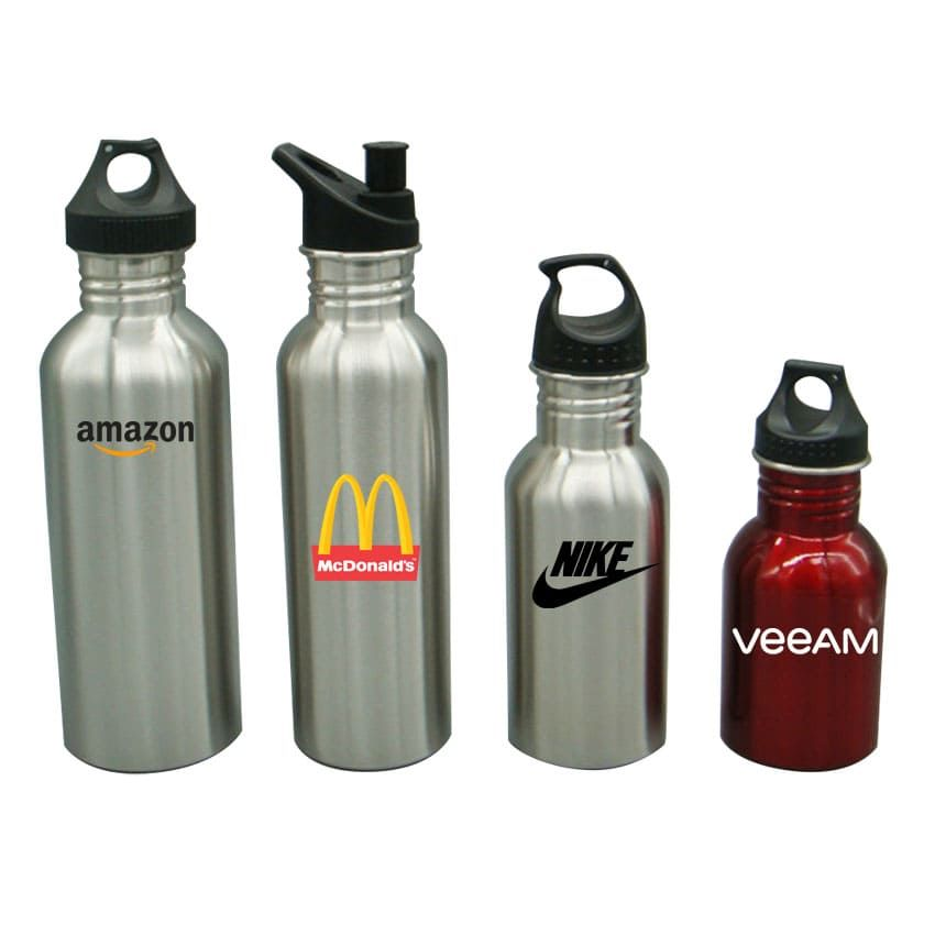 Stainless Steel Sports Water Bottle - Custom Printed Stainless Steel Water Bottles