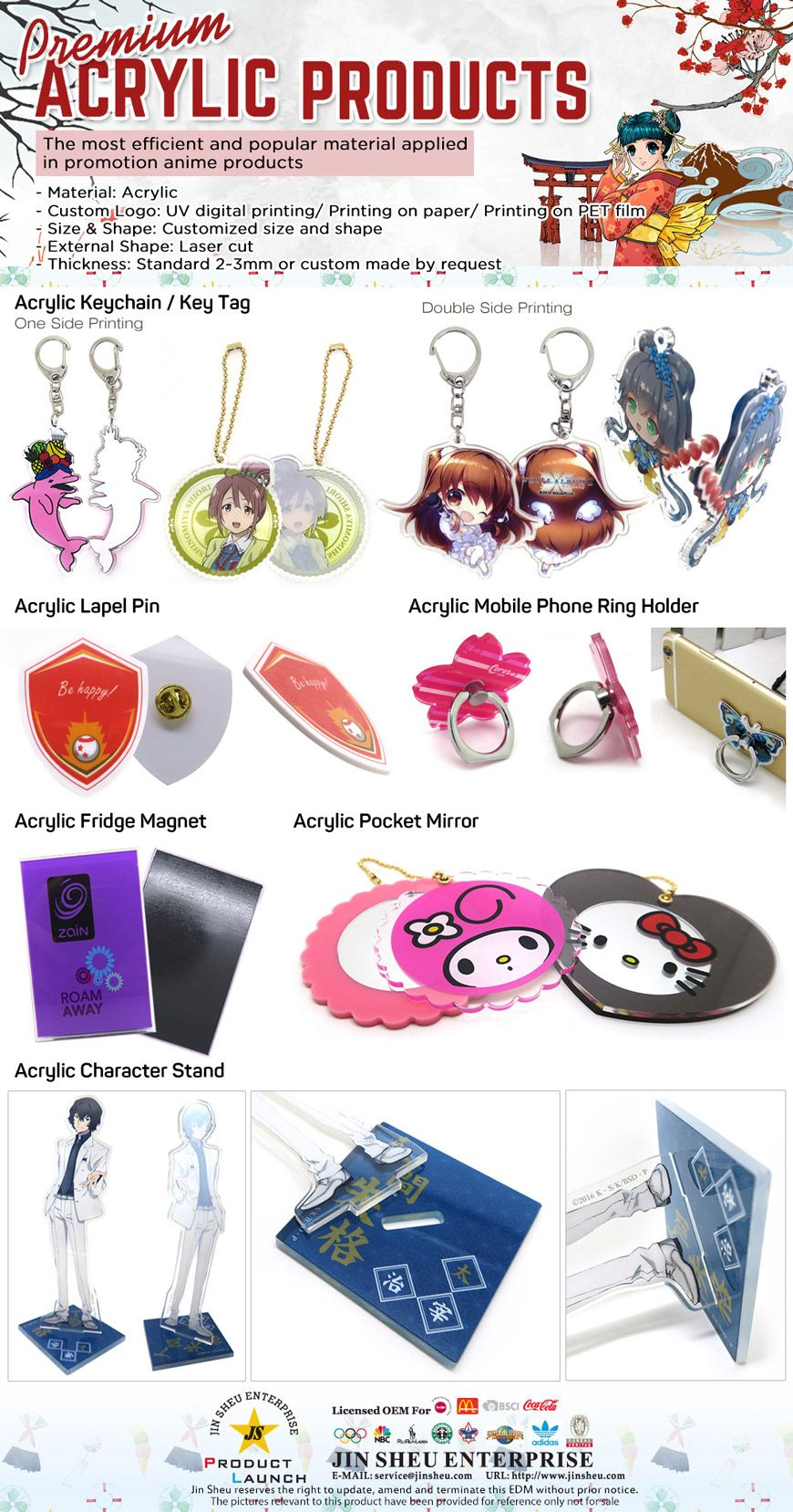 UV Printing Acrylic Keychains | Promotional Products & Items