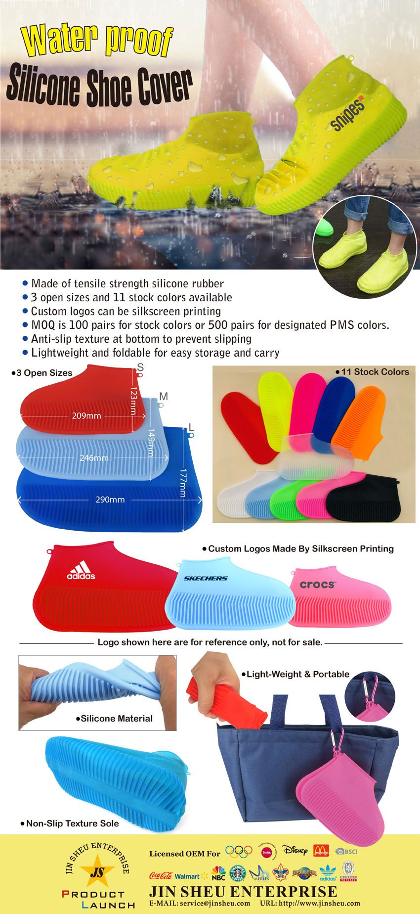 Reusable Waterproof Silicone Shoe Covers
