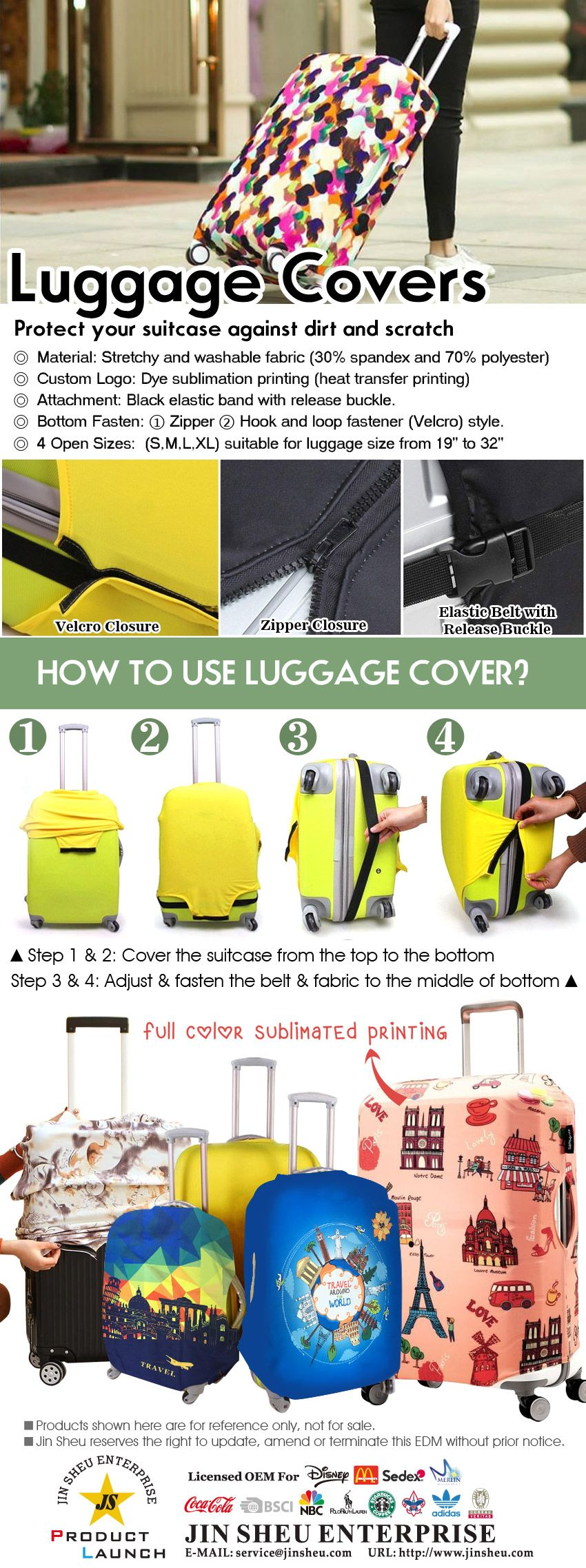 Promotional Protective Suitcase Covers