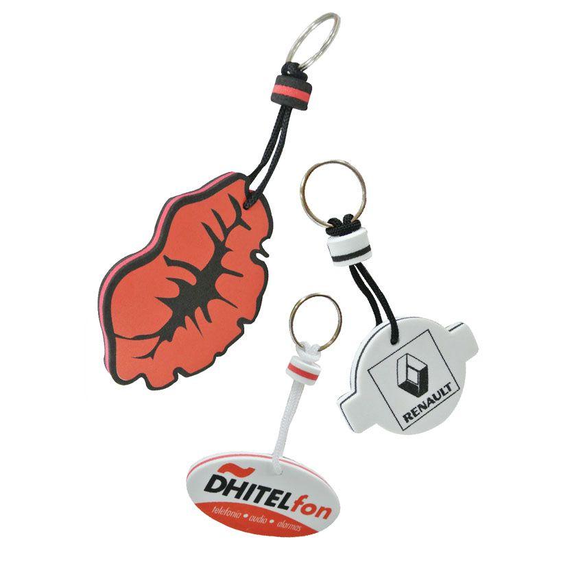 Custom Form EVA Floating Keychains