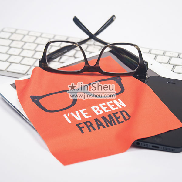 Logo printed Microfiber cleaning cloth for cleaning optical lenses and eyeglasses