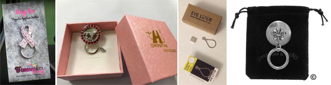 metal eyeglass holders gift box