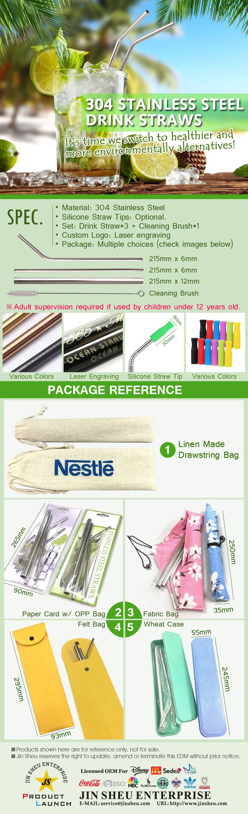 Promotional Stainless Steel Drink Straws