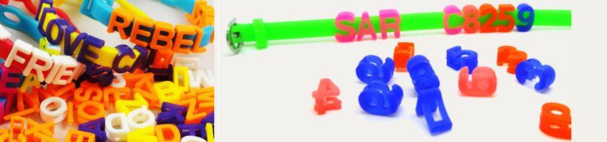 custom kids message bracelets