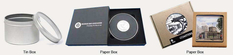 promotional metal coaster with gift box