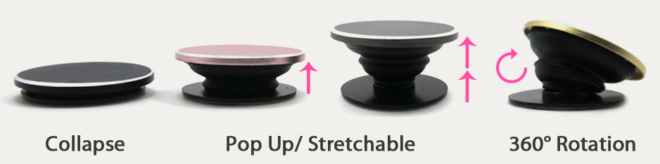 cusotm made popsocket collapsible phone holders