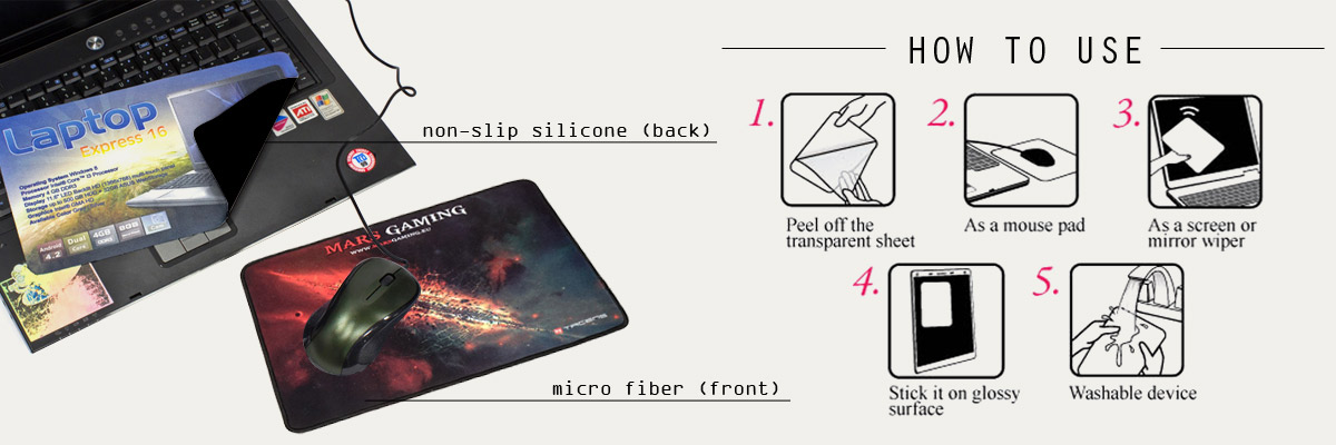prmotional 3 in 1 microfiber mouse pads