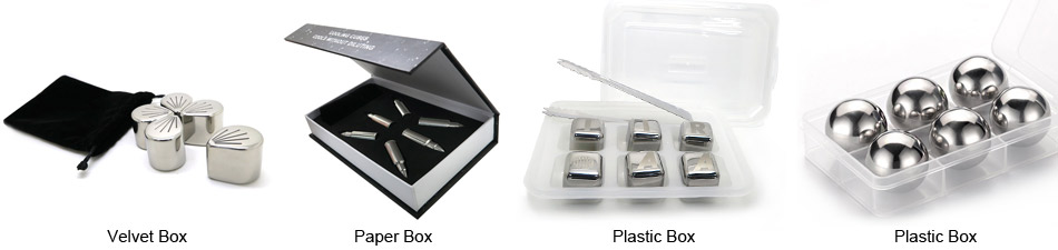 stainless steel ice cube gift box