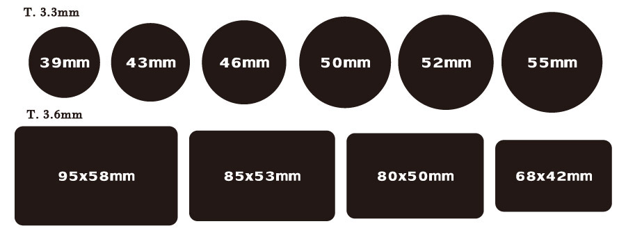 exsiting sizes of ceramic poker tokens