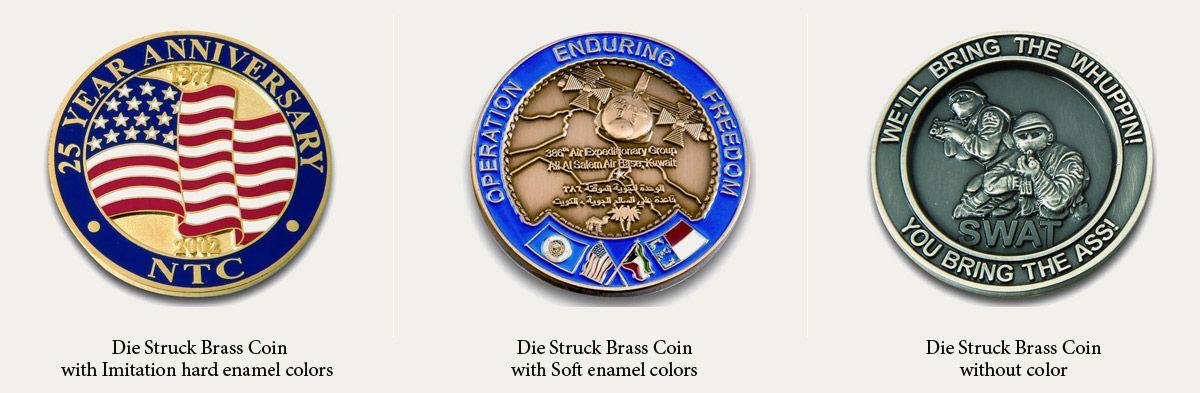 custom brass challenge coins