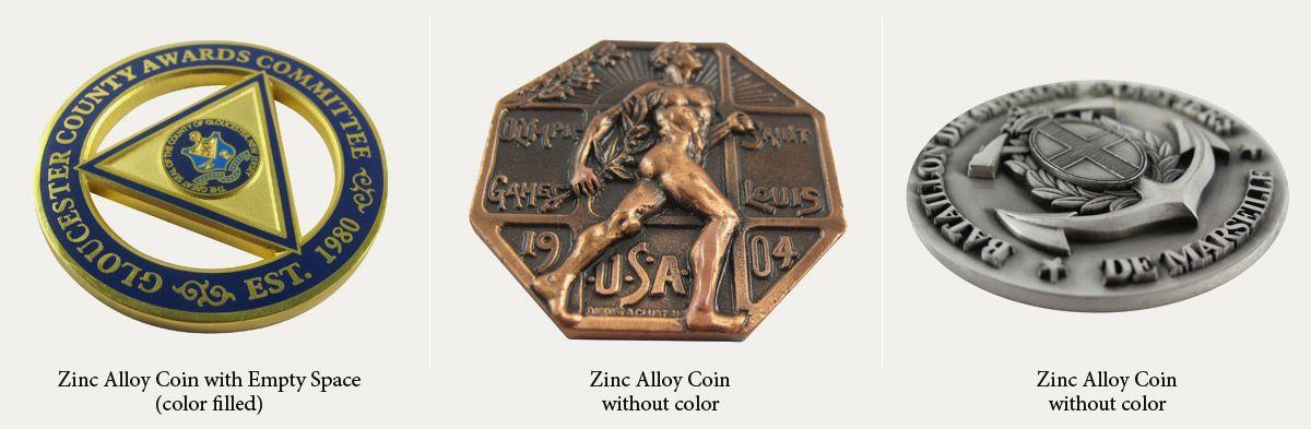 zinc alloy coin manufacturer