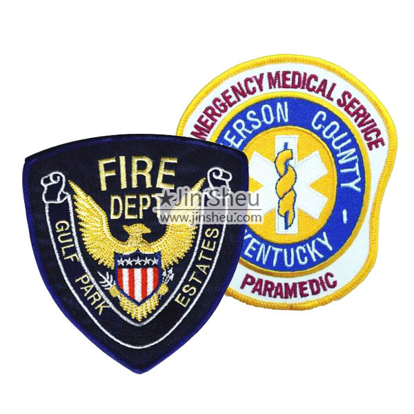 Customized fire department patches & medical alert patches