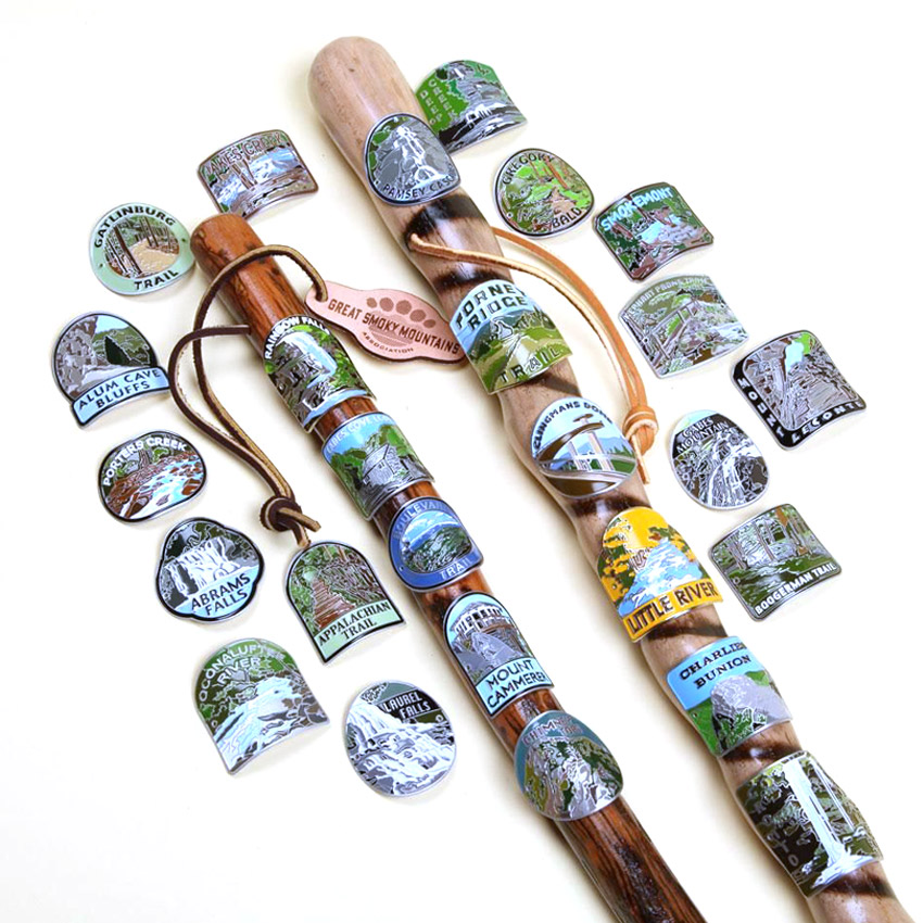 Custom Mountain Hiking Stick Medallions