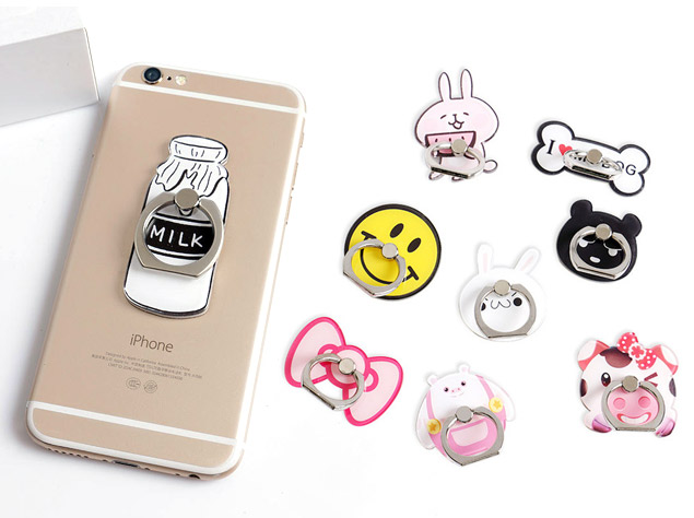 Acrylic cheap mobile phone ring holders