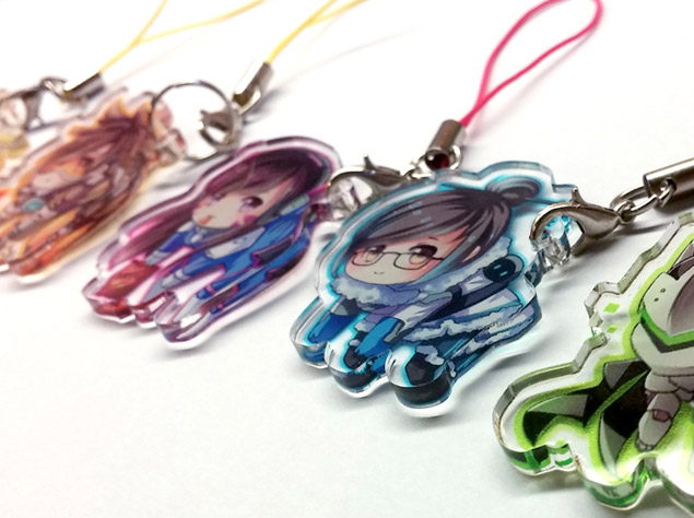 custom made acrylic anime charms