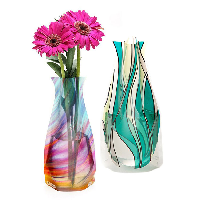 Foldable Plastic Flower Vases