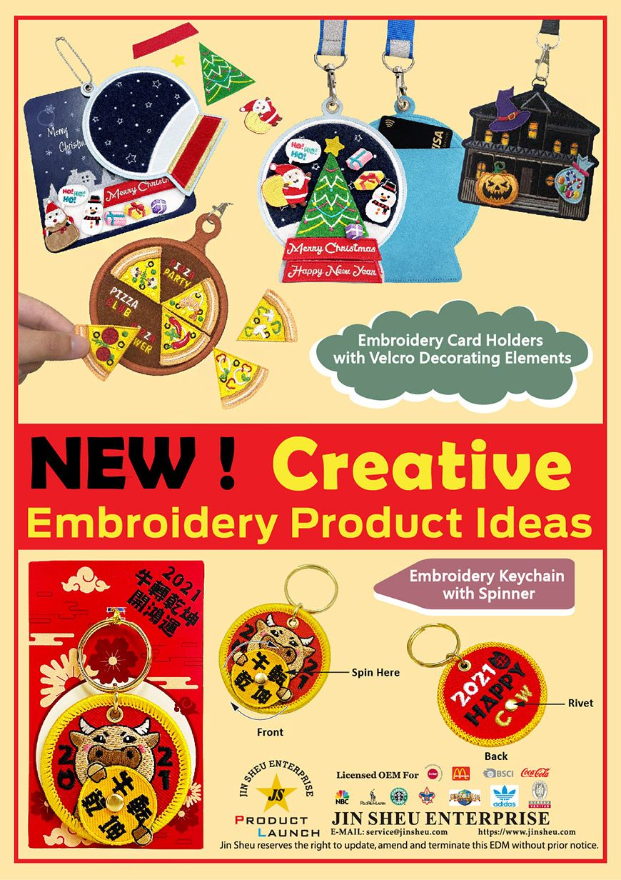 Custom Made New Style Embroidery Products