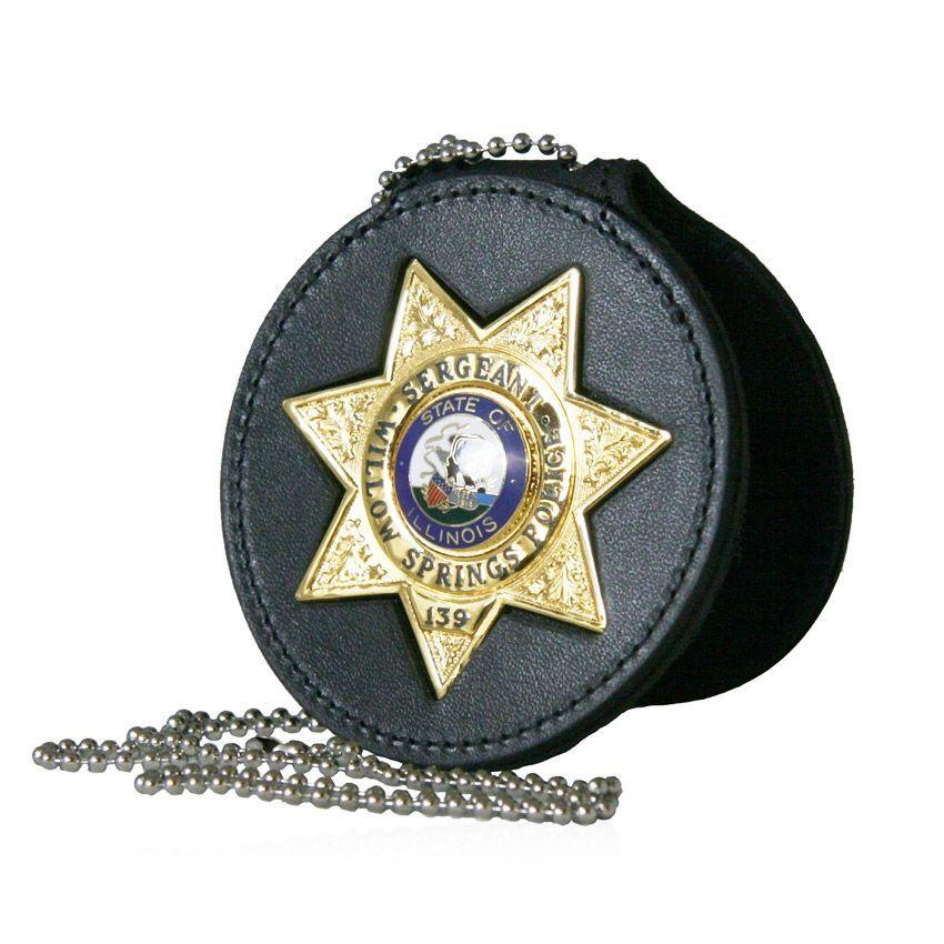 Custom Leather Belt Clip Badge Holders