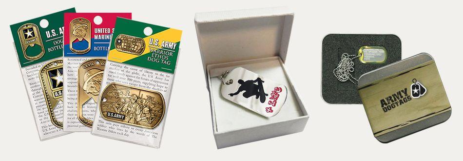 metal dog tag package
