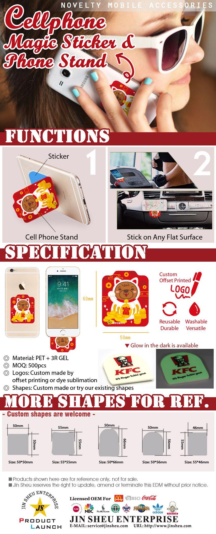 Cellphone Magic Sticker & Phone Stand