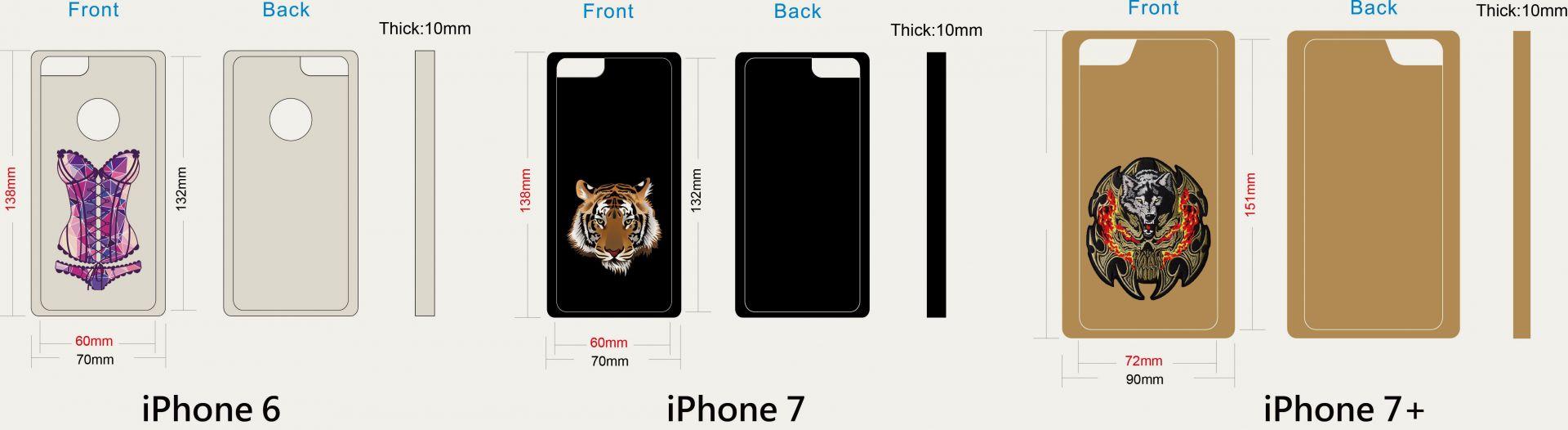Brodeerattu puhelinkotelo leikkaus iPhoneen
