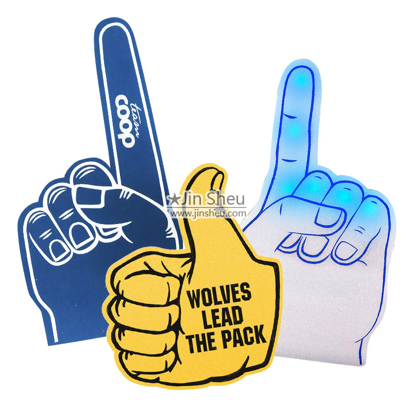 Foam Hand & Foam Finger With Custom Printed Logos